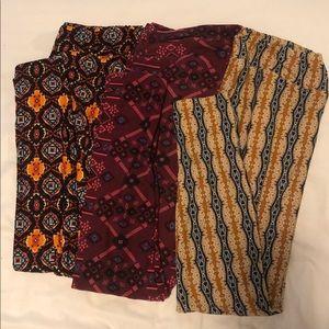 3 pairs TC Lularoe leggings